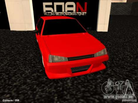 VAZ 2109 Opera Turbo für GTA San Andreas rechten Ansicht