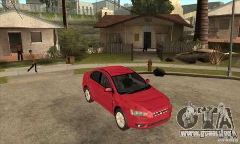 Mitsubishi Lancer pour GTA San Andreas vue arrière