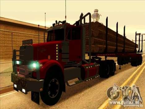 Western Star 4900 pour GTA San Andreas laissé vue