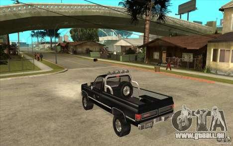 GMC Sierra 1986 FBI für GTA San Andreas zurück linke Ansicht