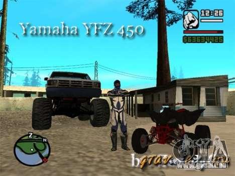 Yamaha YFZ450 pour GTA San Andreas