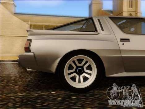 Mitsubishi Starion ESI-R 1986 für GTA San Andreas Innenansicht