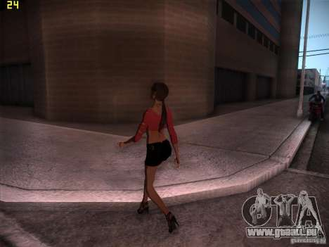 Skin Girl NFS PS pour GTA San Andreas deuxième écran