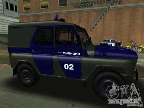UAZ 3151 Polizei für GTA San Andreas Rückansicht