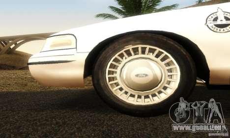 Ford Crown Victoria Neberska Police für GTA San Andreas rechten Ansicht