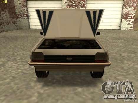 Ford Fiesta 1981 pour GTA San Andreas sur la vue arrière gauche