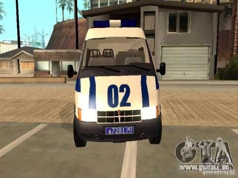 GAZ 2217 Sobol POLICE pour GTA San Andreas vue de droite