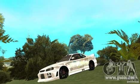 Nissan SkyLine R34 Tunable V2 pour GTA San Andreas laissé vue