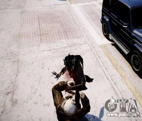 Werewolf from Skyrim pour GTA 4 cinquième écran