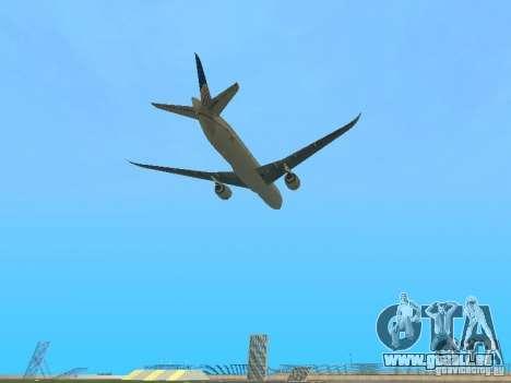 Boeing 787 Dreamliner United Airlines für GTA San Andreas Rückansicht