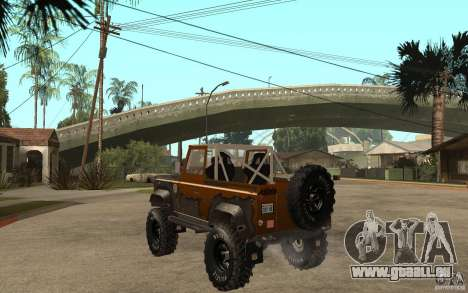Land Rover Defender Extreme Off-Road für GTA San Andreas zurück linke Ansicht