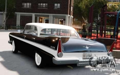 Plymouth Belvedere Sport Sedan 1957 pour GTA 4 est une gauche