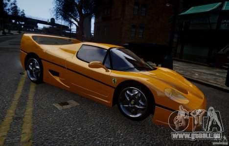 Ferrari F50 1995 pour GTA 4 Vue arrière de la gauche