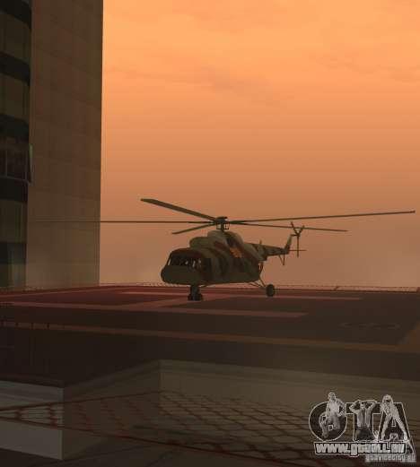 Militaires MI-17 pour GTA San Andreas sur la vue arrière gauche