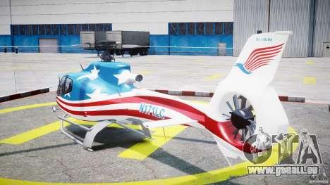 Eurocopter EC 130 B4 USA Theme für GTA 4 hinten links Ansicht