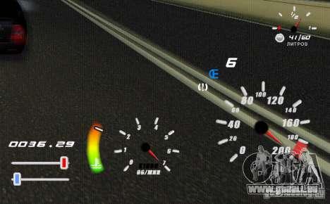 Eine einzigartige Tacho für GTA San Andreas zweiten Screenshot