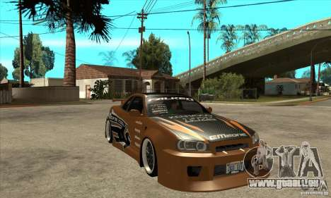 Nissan Skyline GTR - EMzone B-day Car für GTA San Andreas Rückansicht