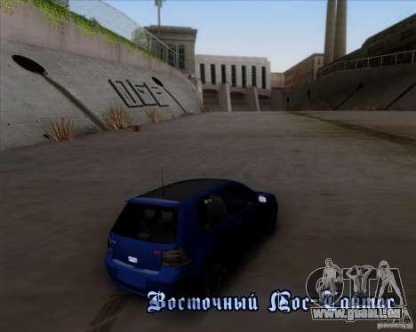 Volkswagen Golf GTi 2003 pour GTA San Andreas vue de dessus