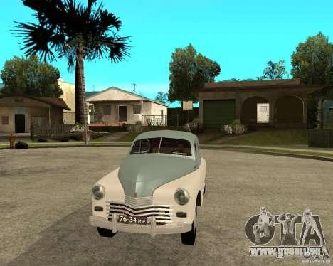 GAZ M20 Pobeda für GTA San Andreas Rückansicht