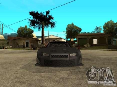 Nissan Skyline R34 GT-R pour GTA San Andreas vue de droite