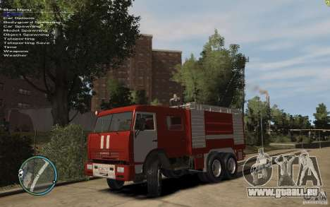 KAMAZ Feuerwehrmann für GTA 4 linke Ansicht