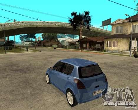2007 Suzuki Swift pour GTA San Andreas laissé vue