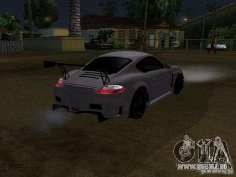 Porsche Cayman S NFS Shift pour GTA San Andreas sur la vue arrière gauche