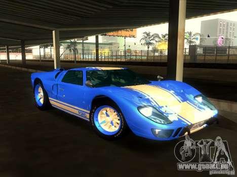 Ford GT40 1966 für GTA San Andreas Unteransicht