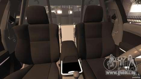 Dodge Charger RT Max Police 2011 [ELS] pour GTA 4 est une vue de l'intérieur