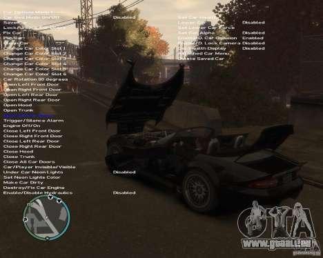 Simple Native Trainer v6.4 für GTA 4 sechsten Screenshot