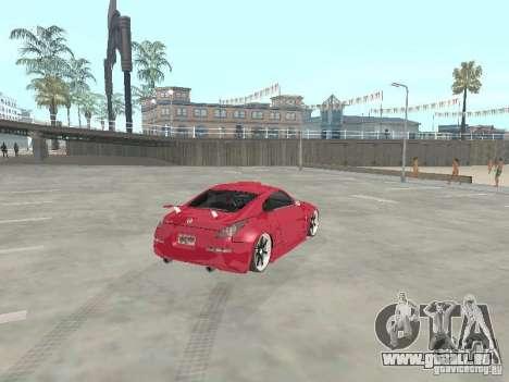 Nissan 350Z v2 pour GTA San Andreas sur la vue arrière gauche