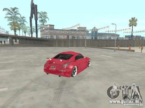 Nissan 350Z v2 für GTA San Andreas zurück linke Ansicht
