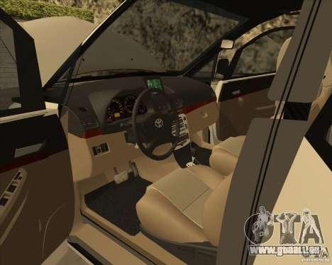 Toyota Innova pour GTA San Andreas vue de dessous