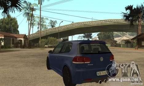 Volkswagen Golf Mk6 2010 pour GTA San Andreas sur la vue arrière gauche