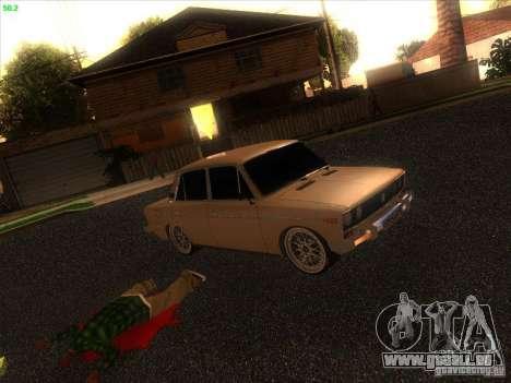 VAZ 2106 Tuning Licht für GTA San Andreas Rückansicht