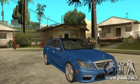 Mercedes-Benz E63 AMG 2010 pour GTA San Andreas vue arrière