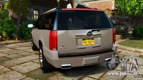 Cadillac Escalade ESV 2012 für GTA 4 hinten links Ansicht