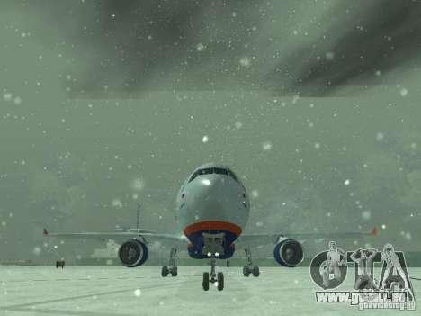 Airbus A330-300 Aeroflot pour GTA San Andreas vue de côté