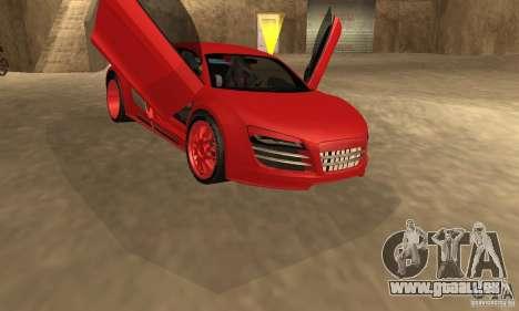 Audi R8 Custom für GTA San Andreas zurück linke Ansicht