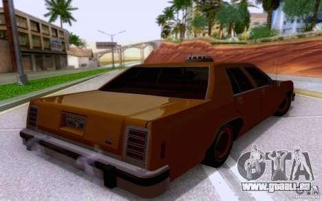 Ford Crown  Victoria LTD 1985 taxi pour GTA San Andreas laissé vue