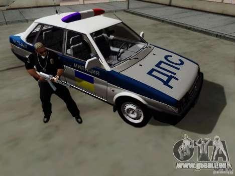 VAZ 21099, Polizei für GTA San Andreas Innenansicht