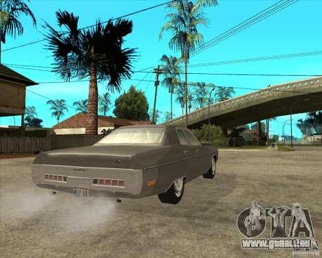 1972 Plymouth Fury III Stock pour GTA San Andreas sur la vue arrière gauche