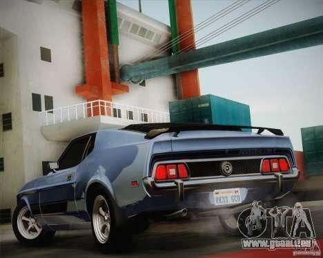Ford Mustang Mach1 1973 pour GTA San Andreas laissé vue
