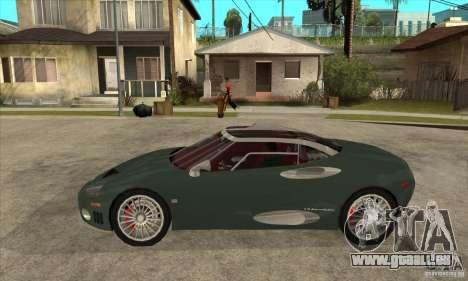 Spyker C8 Laviolete pour GTA San Andreas laissé vue