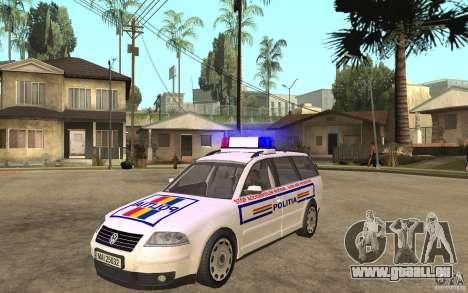 VW Passat B5 Variant Politia Romana für GTA San Andreas