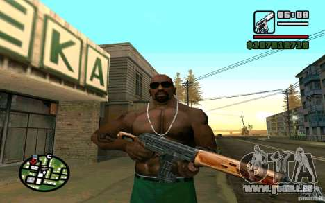 Dragunov sniper rifle v 2.0 pour GTA San Andreas troisième écran