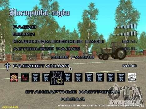 Zusätzlich zu der Mode Radio Kino für GTA San Andreas zweiten Screenshot