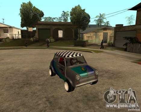 Mini Cooper pour GTA San Andreas vue arrière