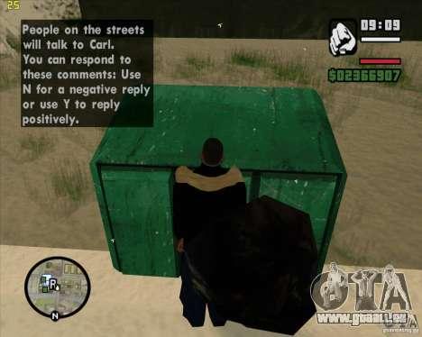 Faire les poubelles pour GTA San Andreas sixième écran
