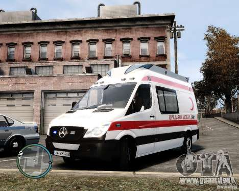 Mercedes Sprinter Turkish Ambulance für GTA 4
